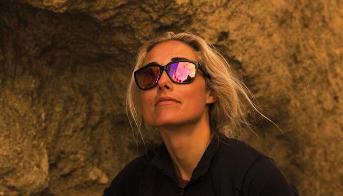 Woman wearing Monterey sunglasses