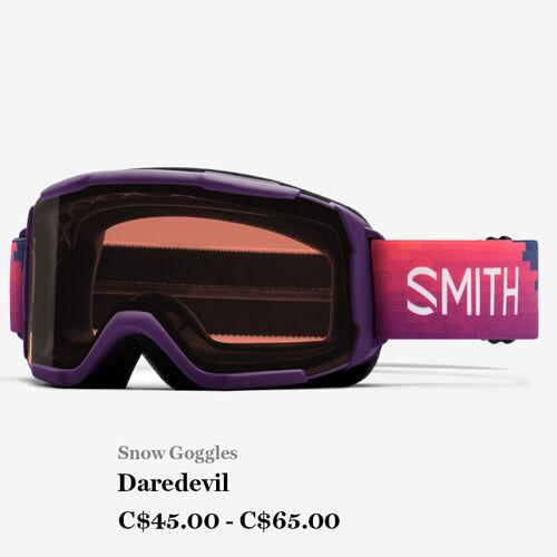 Snow Goggles - Daredevil - C$45 - C$65