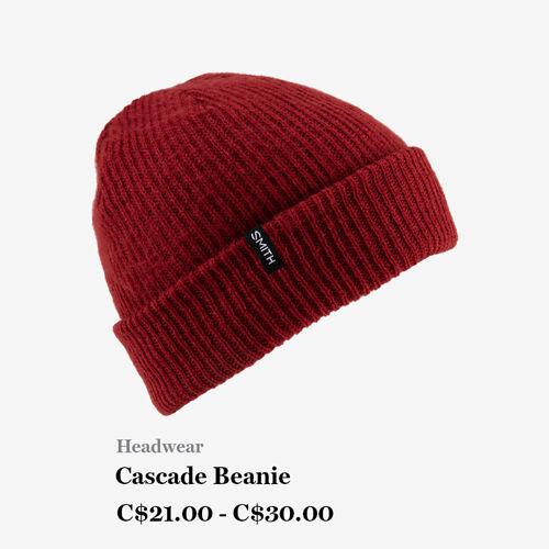 Headwear - Cascade Beanie - C$21 - C$30