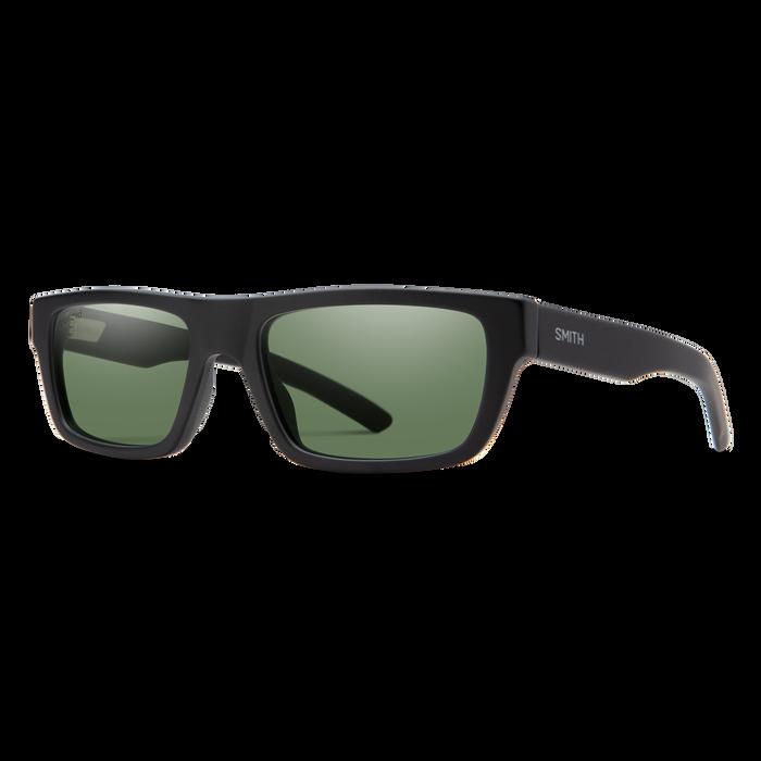 Crossfade Matte Black Polarized Gray Green