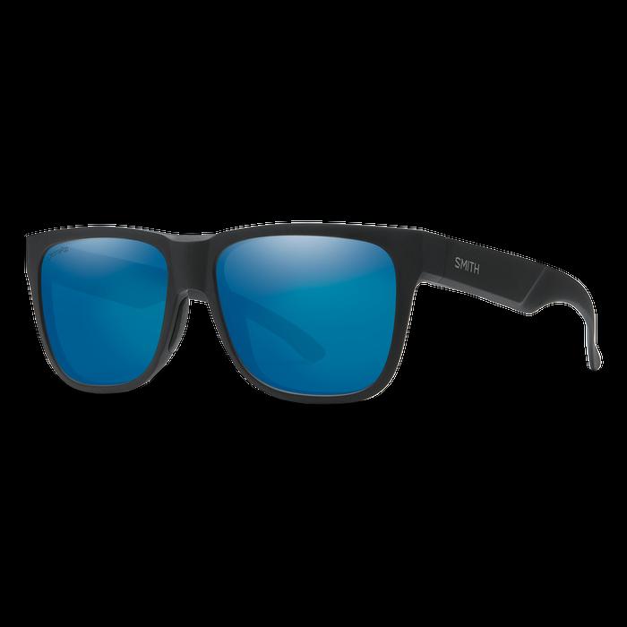 Lowdown 2 Matte Black ChromaPop Polarized Blue Mirror