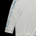 Perform Hooded Tech Long Sleeve, Light Gray, hi-res